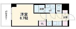 S-RESIDENCE熱田 10階1Kの間取り