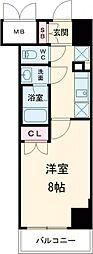レオーネ高島平 2階1Kの間取り