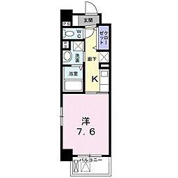 JR東海道・山陽本線 甲子園口駅 徒歩10分の賃貸マンション 2階1Kの間取り