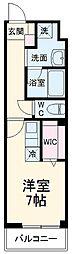 サムティレジデンス船橋海神 1階ワンルームの間取り