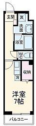 サムティレジデンス船橋海神 2階ワンルームの間取り