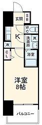 近鉄名古屋線 近鉄四日市駅 徒歩10分の賃貸マンション 3階1Kの間取り