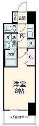 近鉄名古屋線 近鉄四日市駅 徒歩10分の賃貸マンション 9階1Kの間取り
