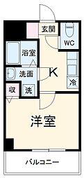 YAMATE 5階1Kの間取り