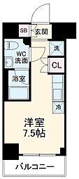 京急本線 戸部駅 徒歩7分の賃貸アパート 2階ワンルームの間取り