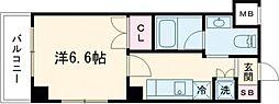シーメゾン王子神谷DUE 3階1Kの間取り