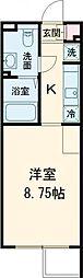 ALERO Takadanobaba Terrace 3階1Kの間取り
