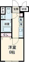 notice椎名町 2階1Kの間取り