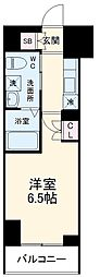 ハーモニーレジデンス横浜みなとみらい002 3階1Kの間取り
