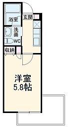 仮称)宮本6丁目AP 3階1Kの間取り