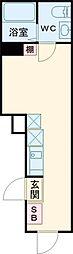 シェレーヴオオツカ 2階ワンルームの間取り