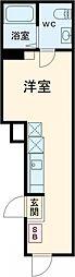 シェレーヴオオツカ 4階ワンルームの間取り