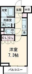 クレヴィスタ祖師ヶ谷大蔵 4階1Kの間取り