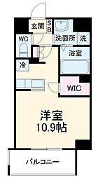 前島1丁目116マンション(仮称) 3階ワンルームの間取り