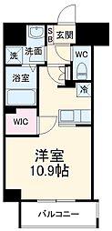 前島1丁目116マンション(仮称) 8階ワンルームの間取り
