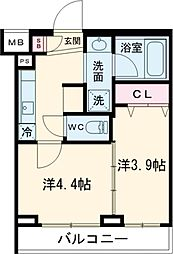 JR埼京線 北赤羽駅 徒歩12分の賃貸マンション 3階2Kの間取り