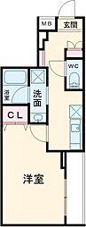 JR埼京線 北赤羽駅 徒歩12分の賃貸マンション 4階1Kの間取り