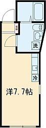 レオリオ 4階ワンルームの間取り