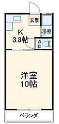 JR東海道本線 浜松駅 バス45分 都田サッカー場下車 徒歩2分の賃貸アパート 1階1Kの間取り