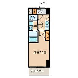 名鉄常滑線 新日鉄前駅 徒歩5分の賃貸マンション 2階1Kの間取り
