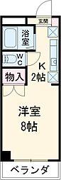 JR中央線 八王子駅 バス25分 宮下下車 徒歩1分の賃貸マンション 3階1Kの間取り
