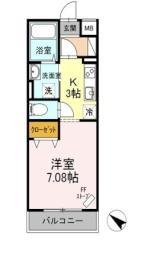 札幌市営南北線 北18条駅 徒歩6分の賃貸マンション 3階ワンルームの間取り