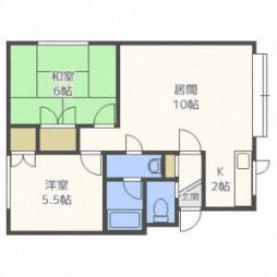 第5沼田マンション 1階2LDKの間取り