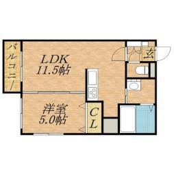 札幌市営南北線 麻生駅 徒歩5分の賃貸マンション 1階1LDKの間取り