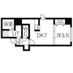 カーサベルタ 7階1DKの間取り