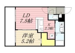サンコート円山ガーデンヒルズ 8階1LDKの間取り