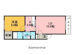 JR函館本線 銭函駅 徒歩14分の賃貸マンション 1階1LDKの間取り