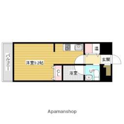 JR函館本線 岩見沢駅 徒歩7分の賃貸マンション 2階ワンルームの間取り