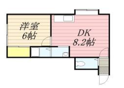 アーバンライフハウス 2階1DKの間取り