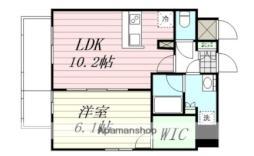 エルスタンザ広瀬通RESIDENCE 3階1LDKの間取り