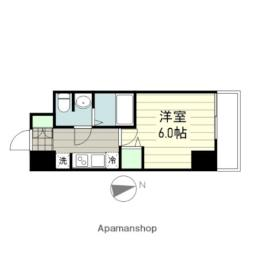 smart residence 仙台駅東 9階1Kの間取り