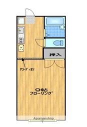 JR米坂線 南米沢駅 徒歩13分の賃貸アパート 2階1Kの間取り
