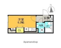 西武新宿線 井荻駅 徒歩7分の賃貸マンション 4階ワンルームの間取り