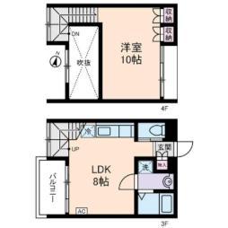 京急本線 新馬場駅 徒歩6分の賃貸マンション 3階1LDKの間取り