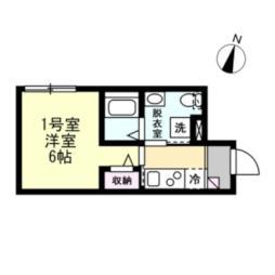 京急本線 黄金町駅 徒歩7分の賃貸アパート 1階1Kの間取り