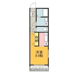 JR御殿場線 沼津駅 徒歩4分の賃貸マンション 1階ワンルームの間取り