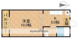 アローン都田 1階1Kの間取り