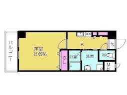 名古屋市営名城線 八事日赤駅 徒歩15分の賃貸マンション 3階1Kの間取り