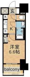 名古屋市営東山線 今池駅 徒歩2分の賃貸マンション 14階1Kの間取り