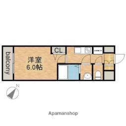 JR中央本線 鶴舞駅 徒歩2分の賃貸マンション 12階1Kの間取り