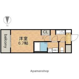名古屋市営鶴舞線 上前津駅 徒歩3分の賃貸マンション 15階1Kの間取り