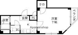 Osaka Metro谷町線 大日駅 徒歩25分の賃貸アパート 4階1Kの間取り