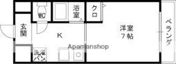 京阪本線 土居駅 徒歩1分の賃貸マンション 4階1Kの間取り
