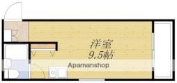 ファインクレスト・江坂 5階ワンルームの間取り