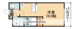 阪急千里線 北千里駅 バス10分 小野原南下車 徒歩7分の賃貸アパート 2階1Kの間取り