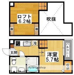 南海高野線 萩原天神駅 徒歩6分の賃貸アパート 1階1Kの間取り